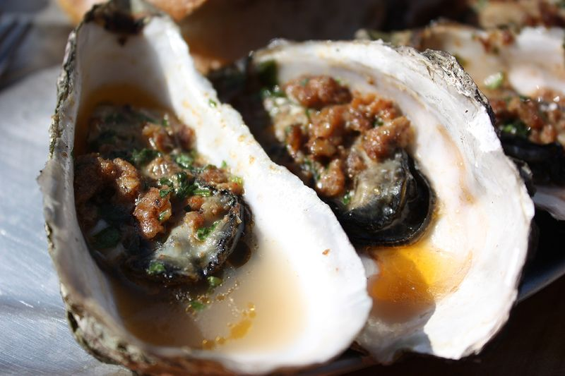 Oysters in Charizo Butter